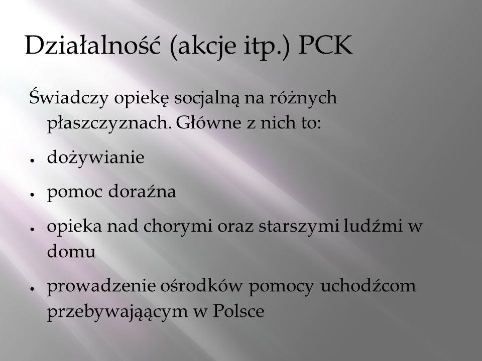 Działalność (akcje itp.) PCK