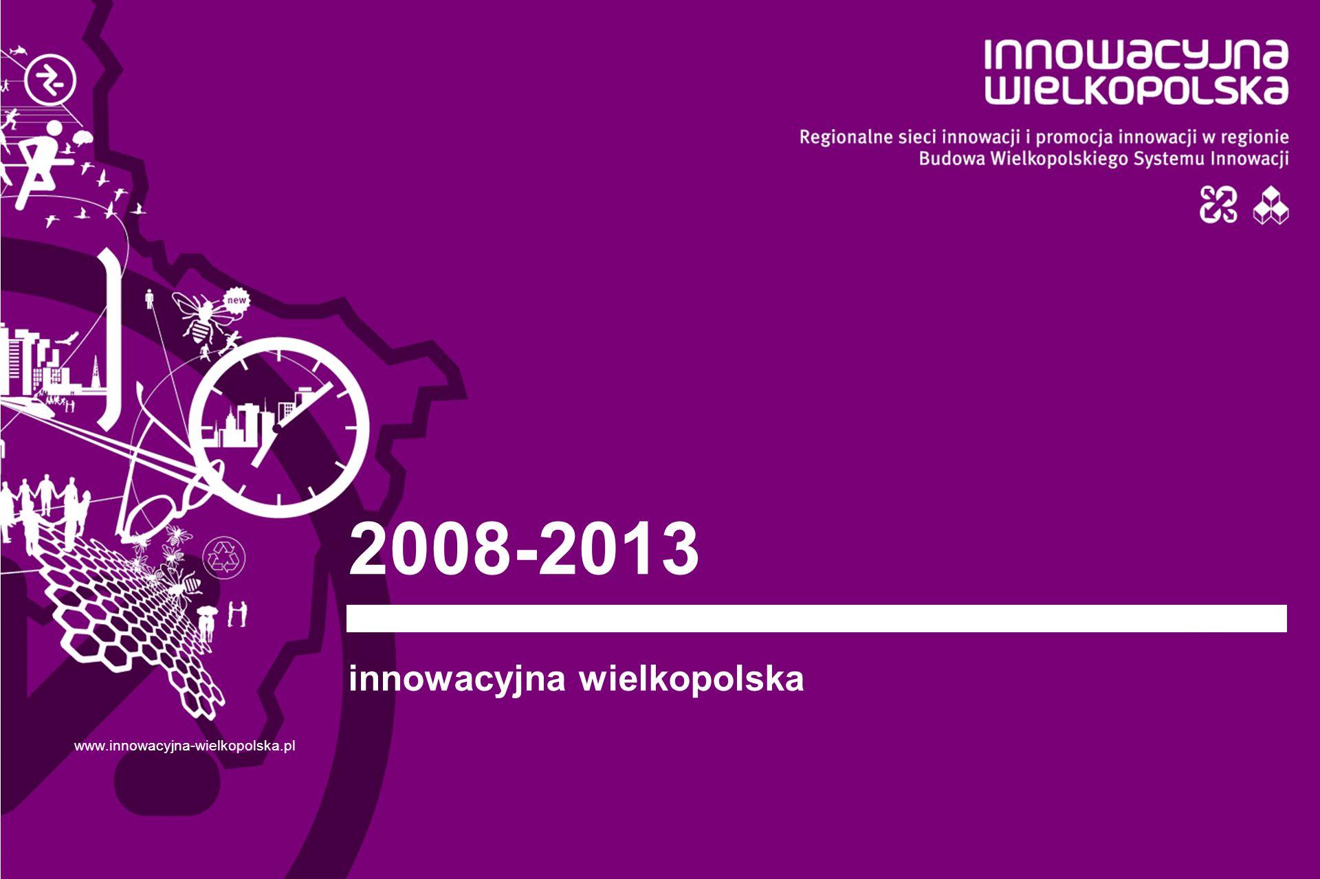 2008-2013 innowacyjna wielkopolska www.innowacyjna-wielkopolska.pl