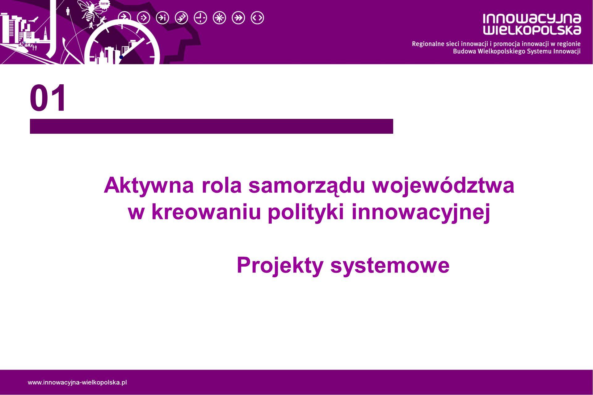 Aktywna rola samorządu województwa w kreowaniu polityki innowacyjnej
