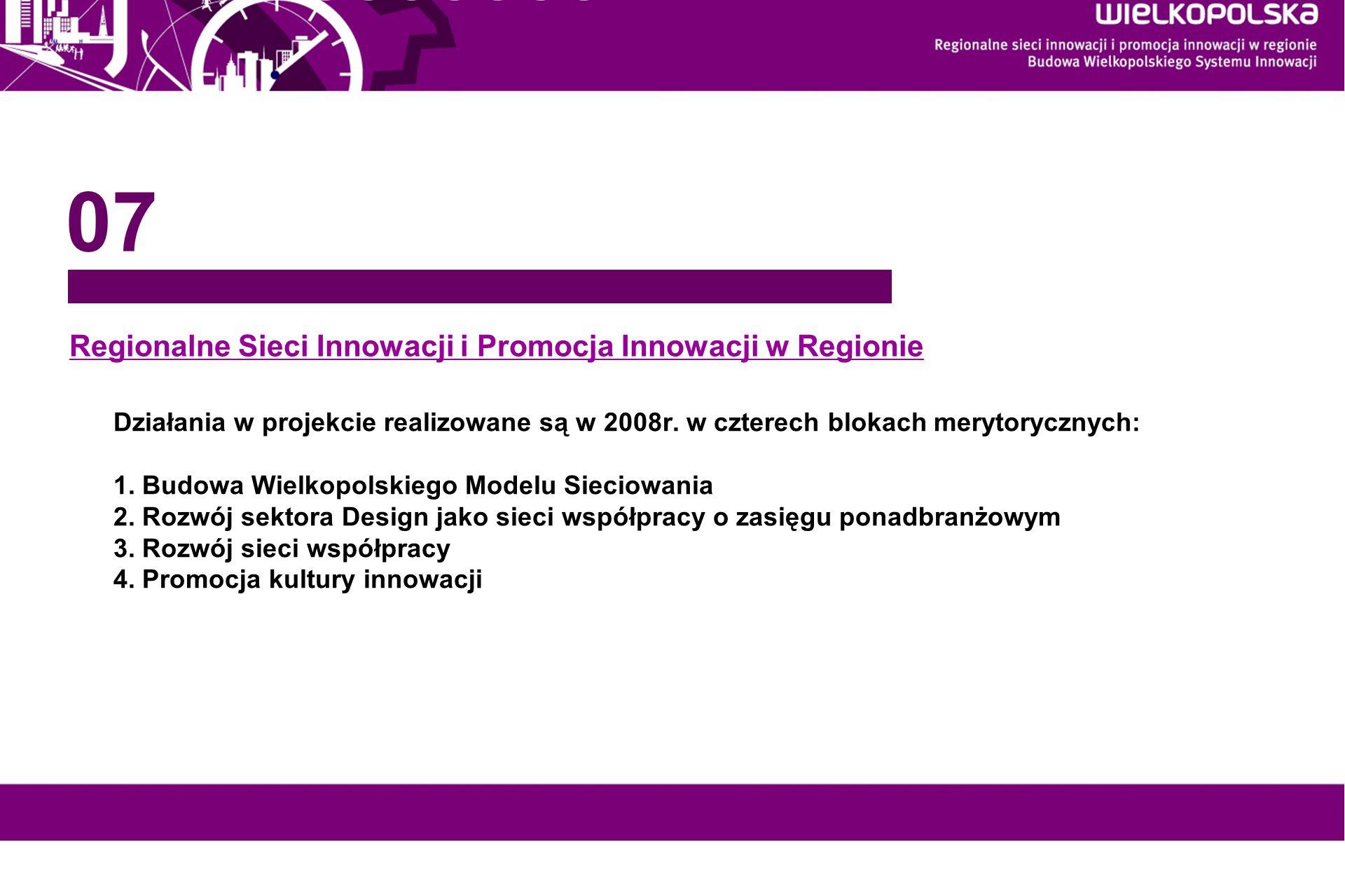 Regionalne Sieci Innowacji i Promocja Innowacji w Regionie