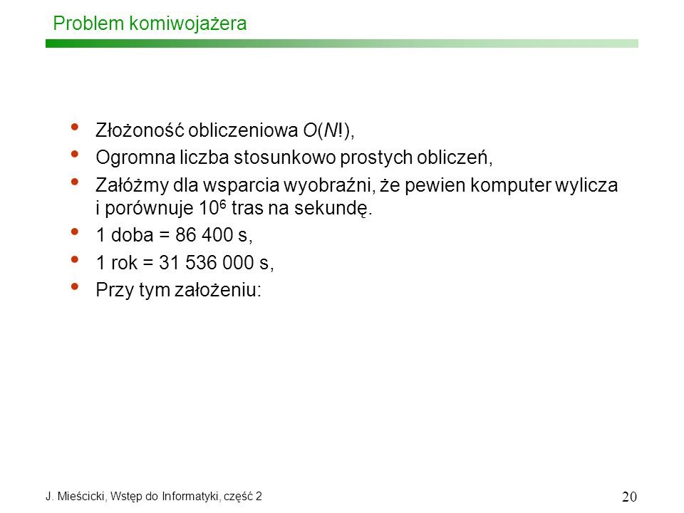 J. Mieścicki, Wstęp do Informatyki, część 2