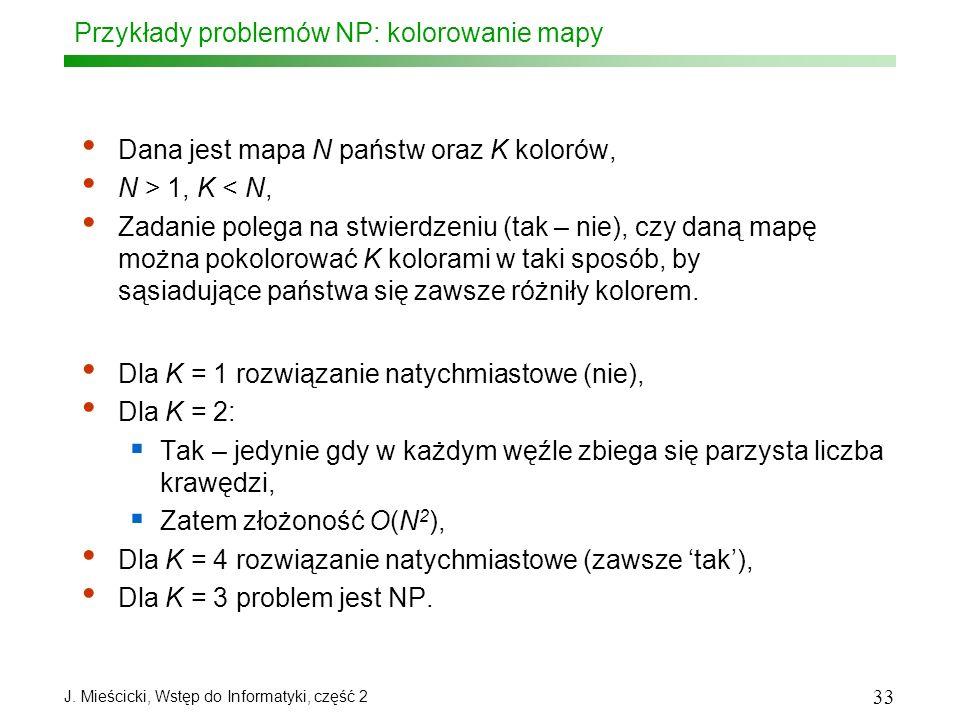 Przykłady problemów NP: kolorowanie mapy