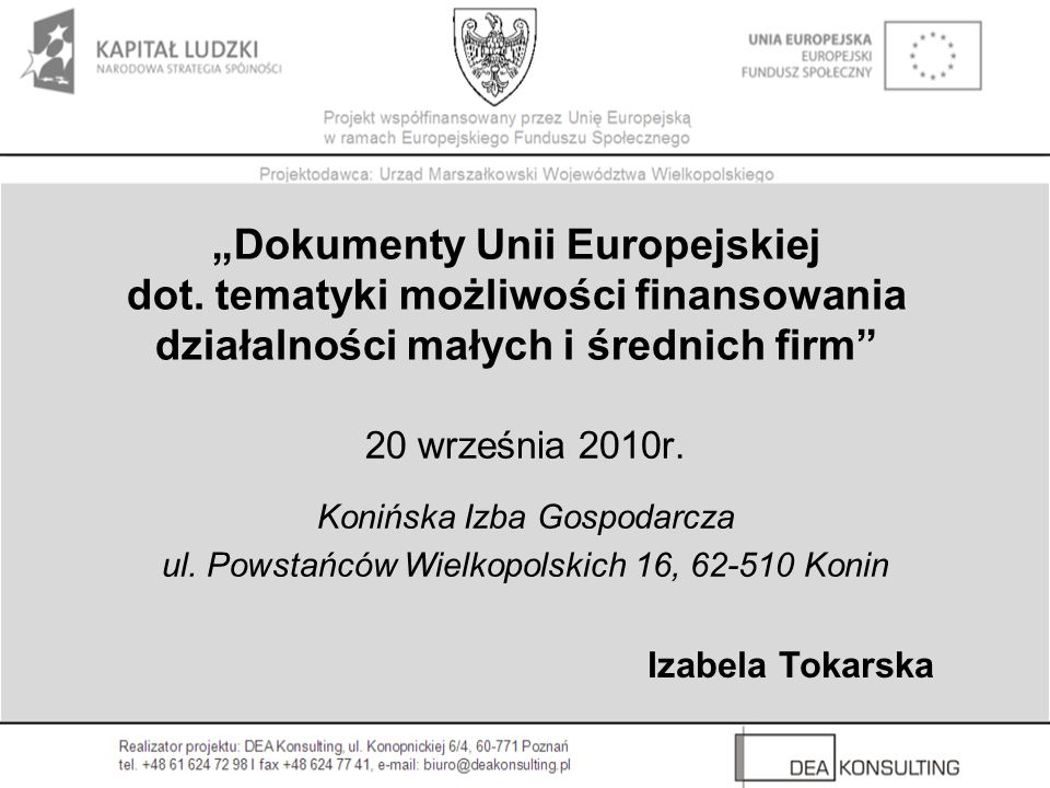 """""""Dokumenty Unii Europejskiej dot"""