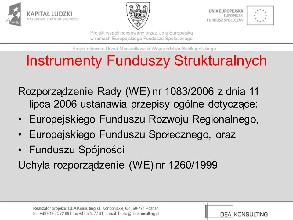 Instrumenty Funduszy Strukturalnych