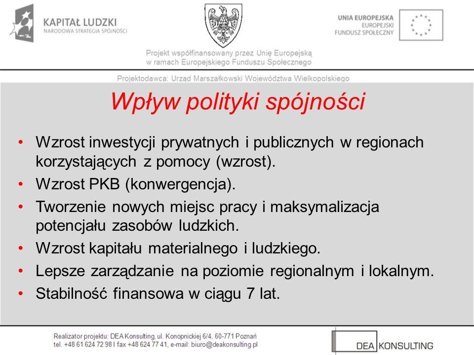 Wpływ polityki spójności