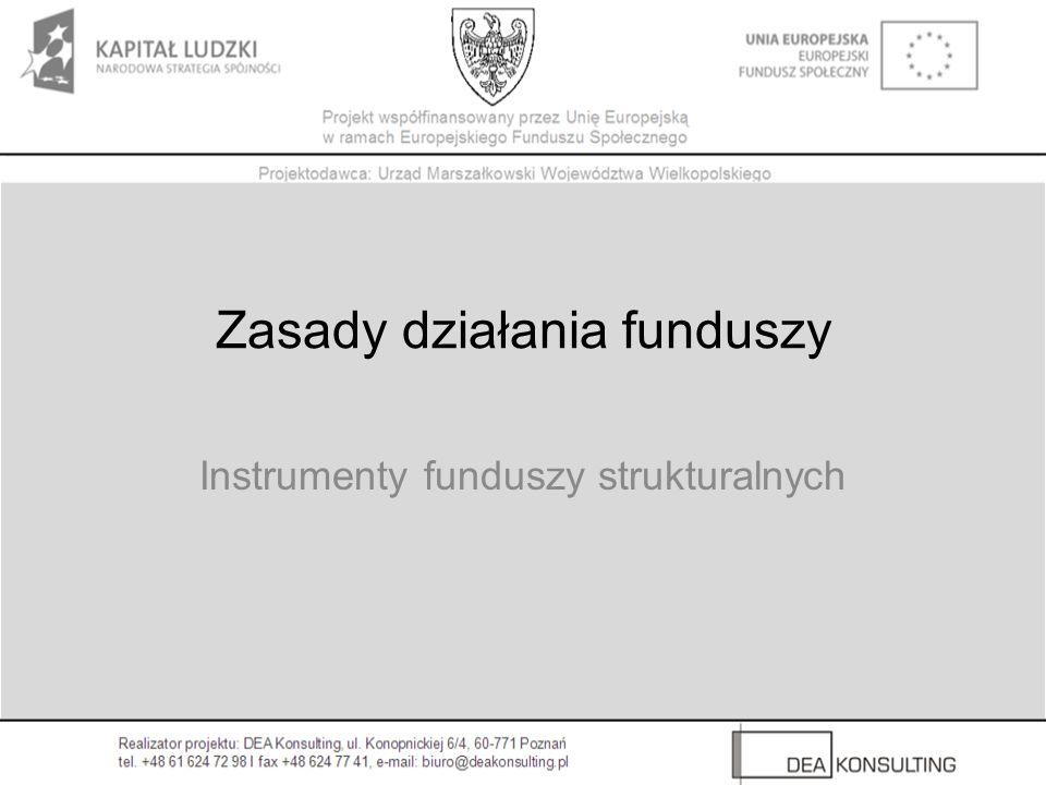 Zasady działania funduszy