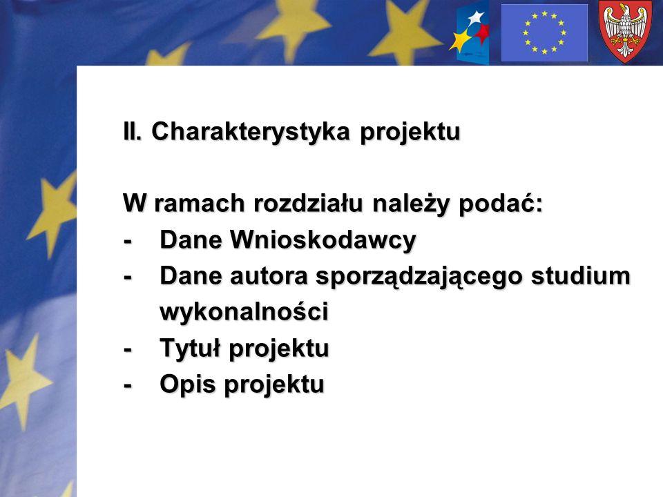 II. Charakterystyka projektu
