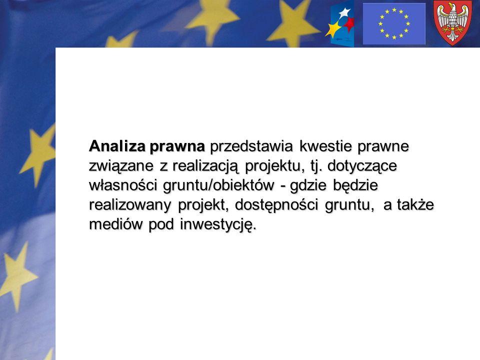 Analiza prawna przedstawia kwestie prawne związane z realizacją projektu, tj.