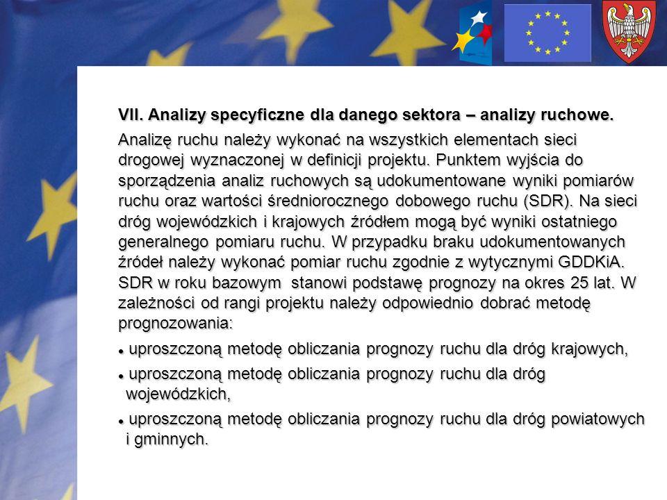 VII. Analizy specyficzne dla danego sektora – analizy ruchowe.