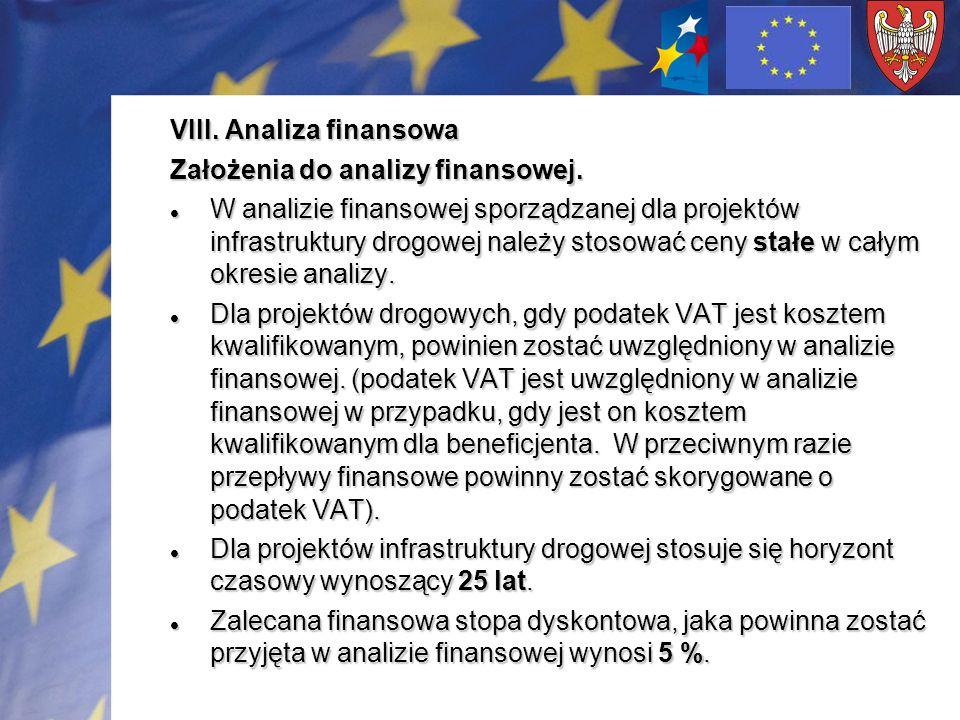 VIII. Analiza finansowa