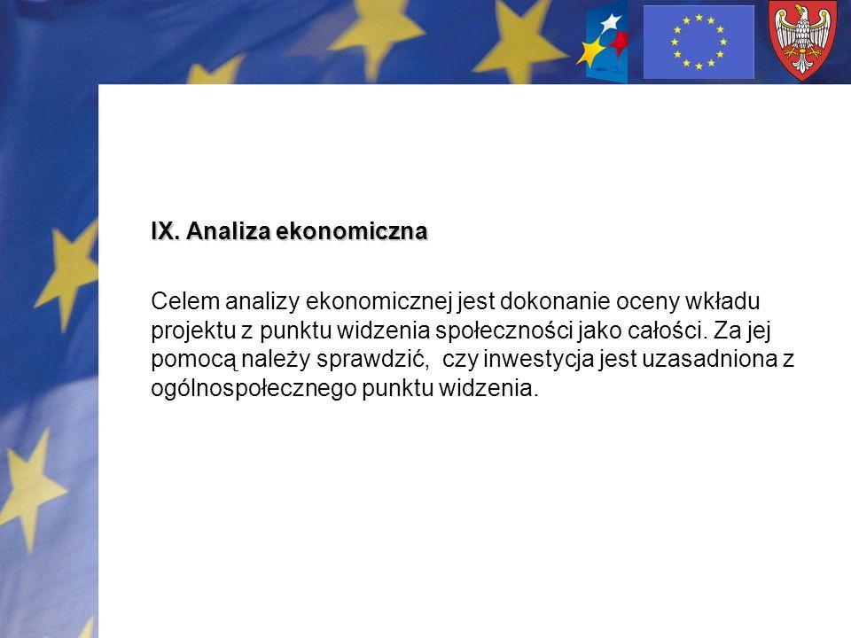IX. Analiza ekonomiczna