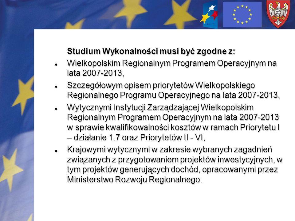 Wielkopolskim Regionalnym Programem Operacyjnym na lata 2007-2013,