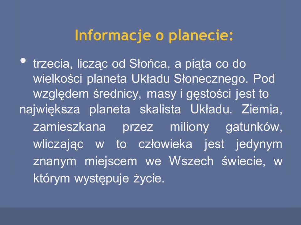 Informacje o planecie: