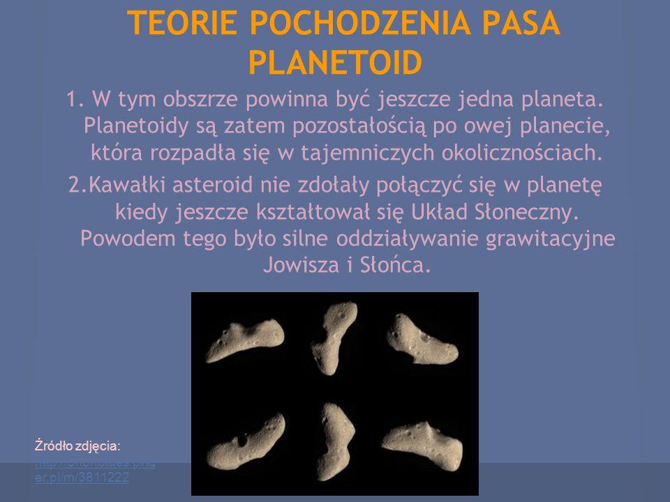 TEORIE POCHODZENIA PASA PLANETOID