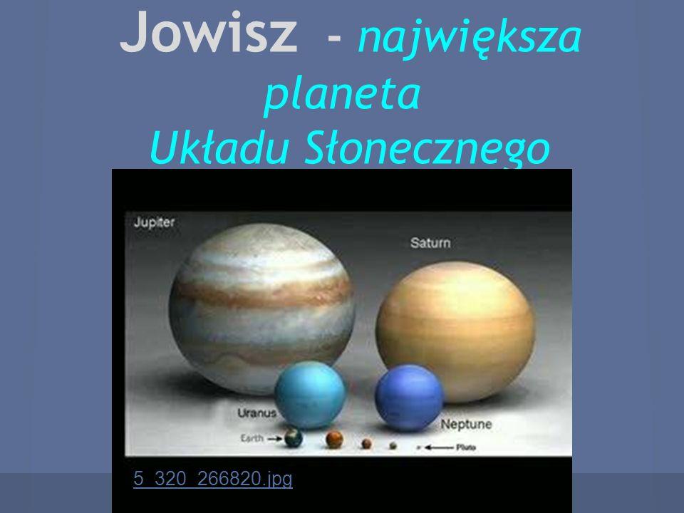 Jowisz - największa planeta Układu Słonecznego