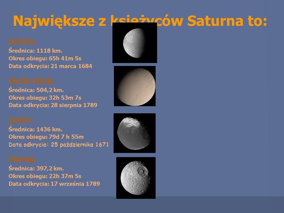 Największe z księżyców Saturna to: