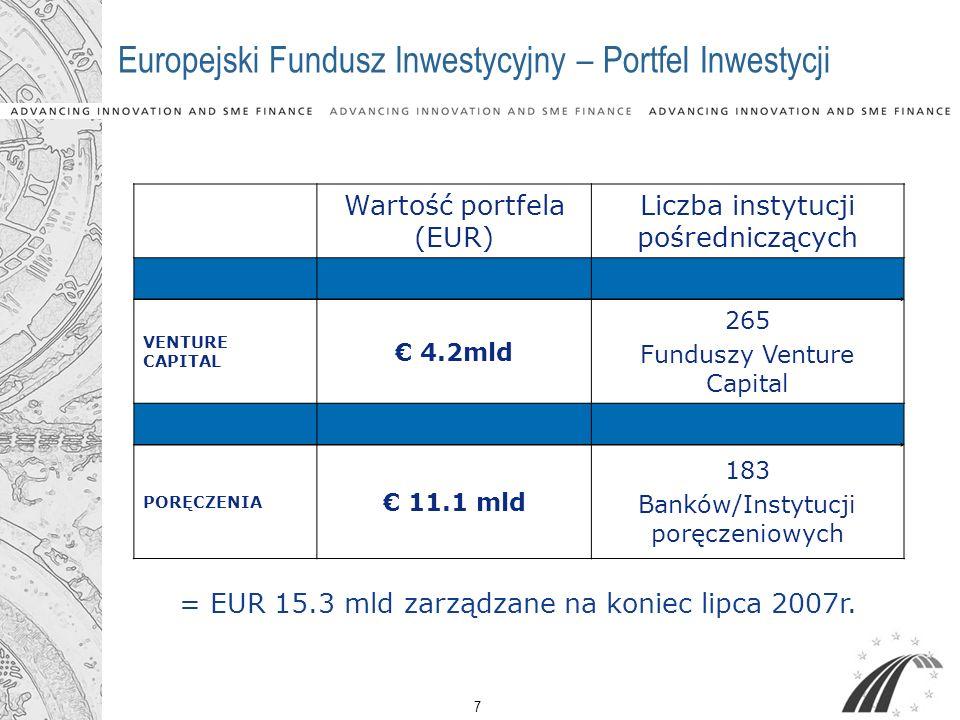 Europejski Fundusz Inwestycyjny – Portfel Inwestycji