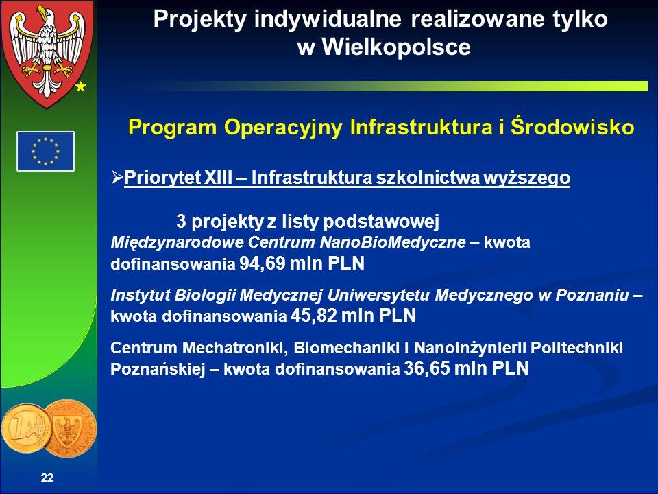 Projekty indywidualne realizowane tylko w Wielkopolsce
