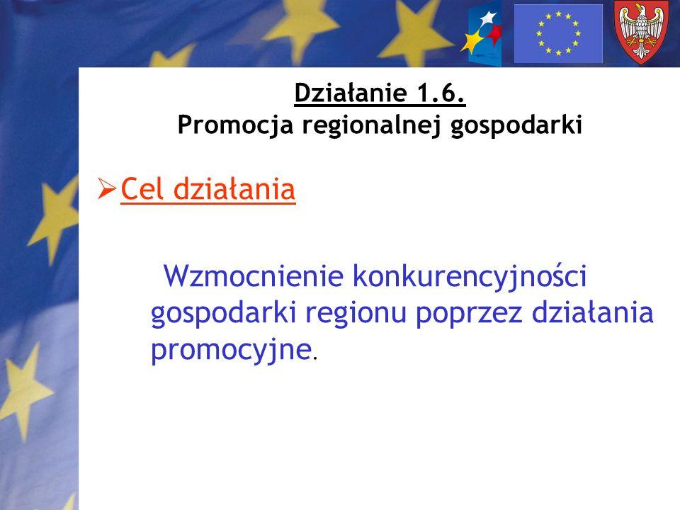 Działanie 1.6. Promocja regionalnej gospodarki