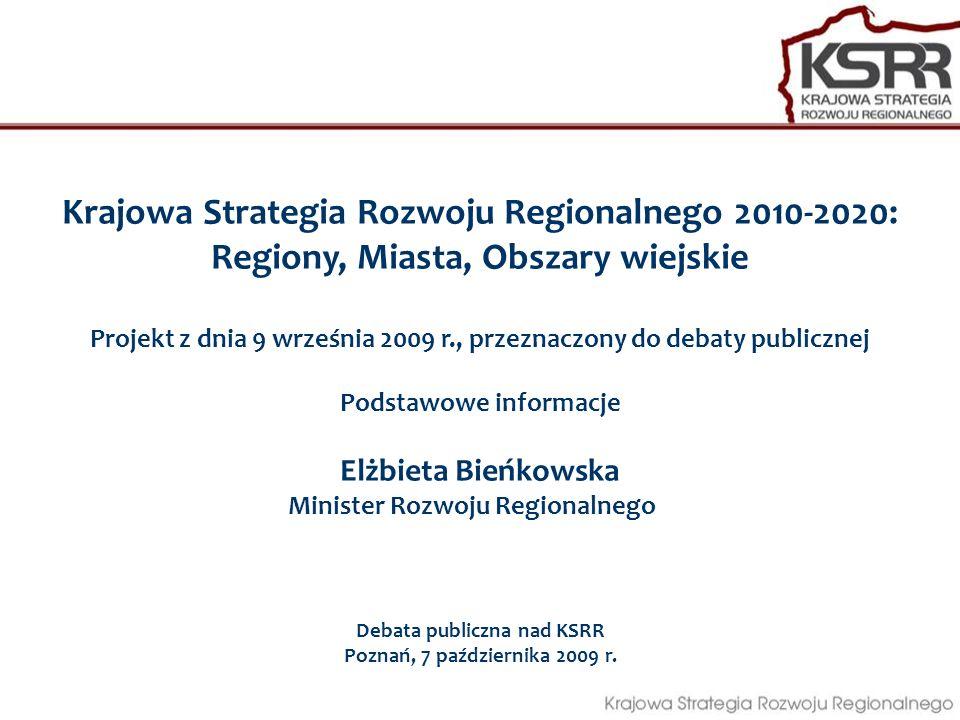 Krajowa Strategia Rozwoju Regionalnego 2010-2020: