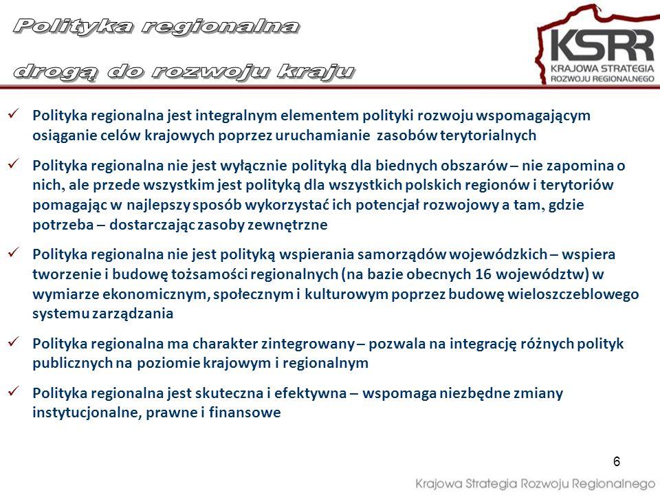 Polityka regionalna drogą do rozwoju kraju