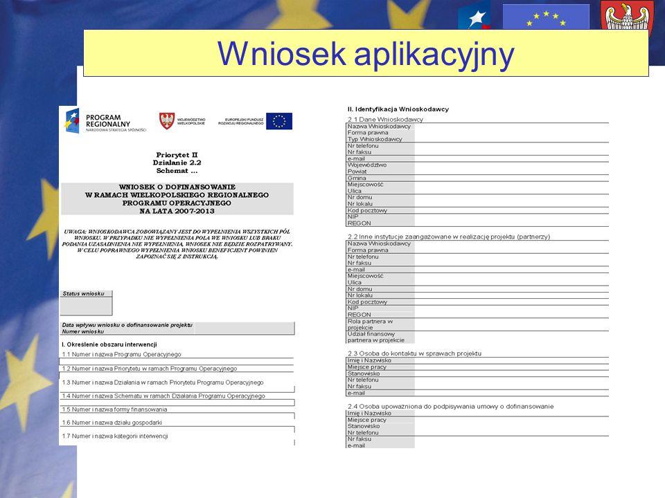 Wniosek aplikacyjny