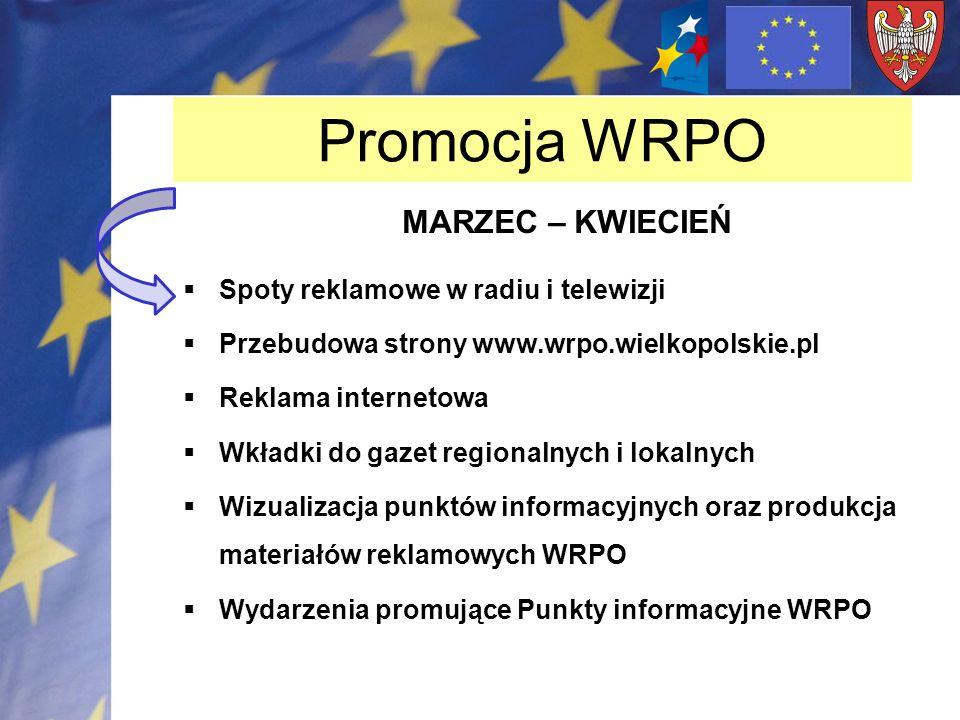 Promocja WRPO MARZEC – KWIECIEŃ Spoty reklamowe w radiu i telewizji