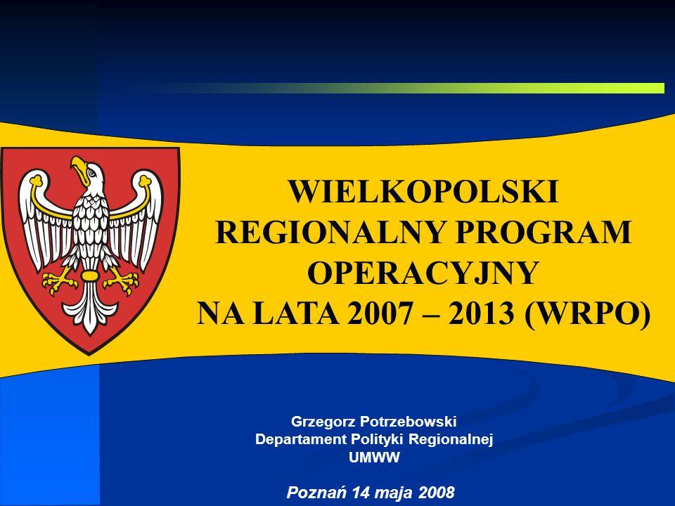 Grzegorz Potrzebowski Departament Polityki Regionalnej