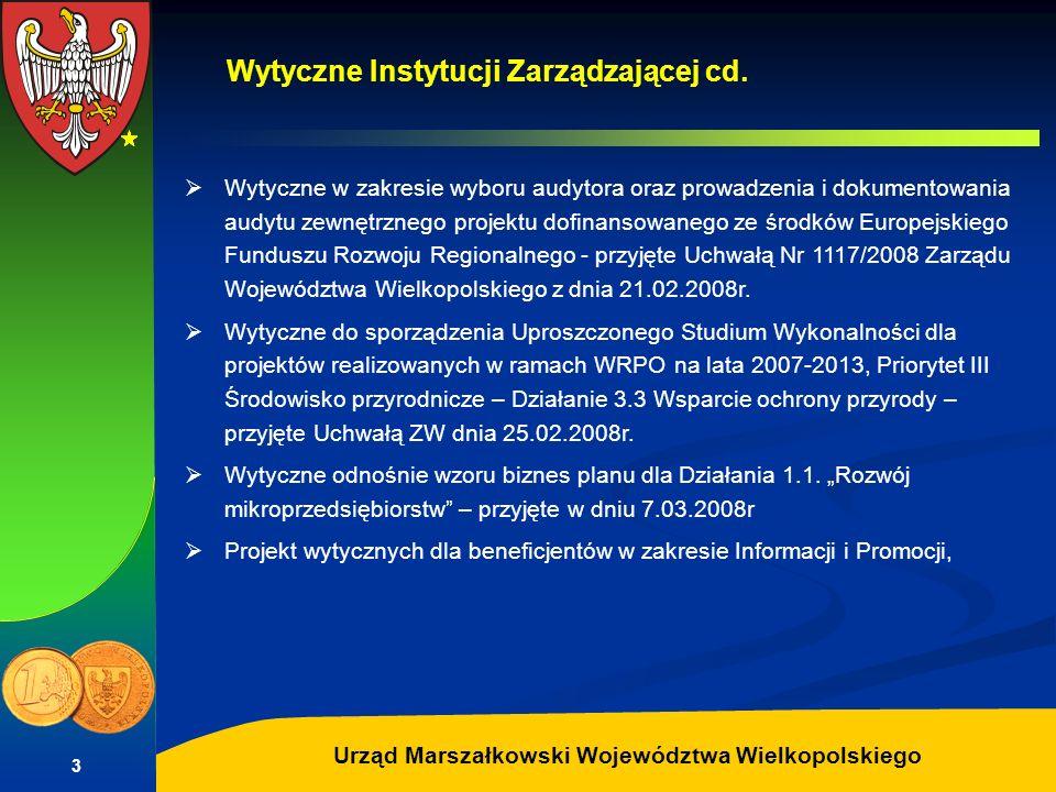 Wytyczne Instytucji Zarządzającej cd.