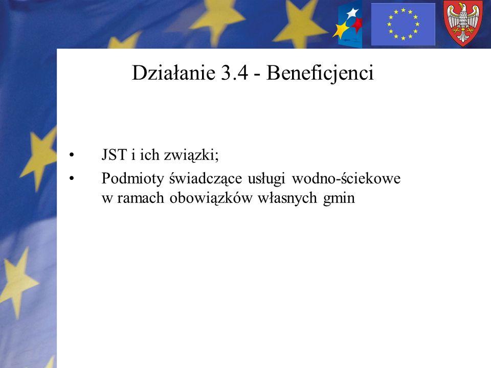 Działanie 3.4 - Beneficjenci