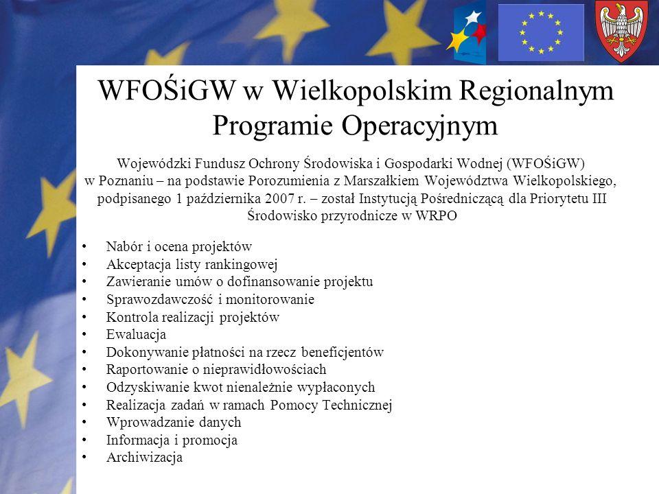 WFOŚiGW w Wielkopolskim Regionalnym Programie Operacyjnym