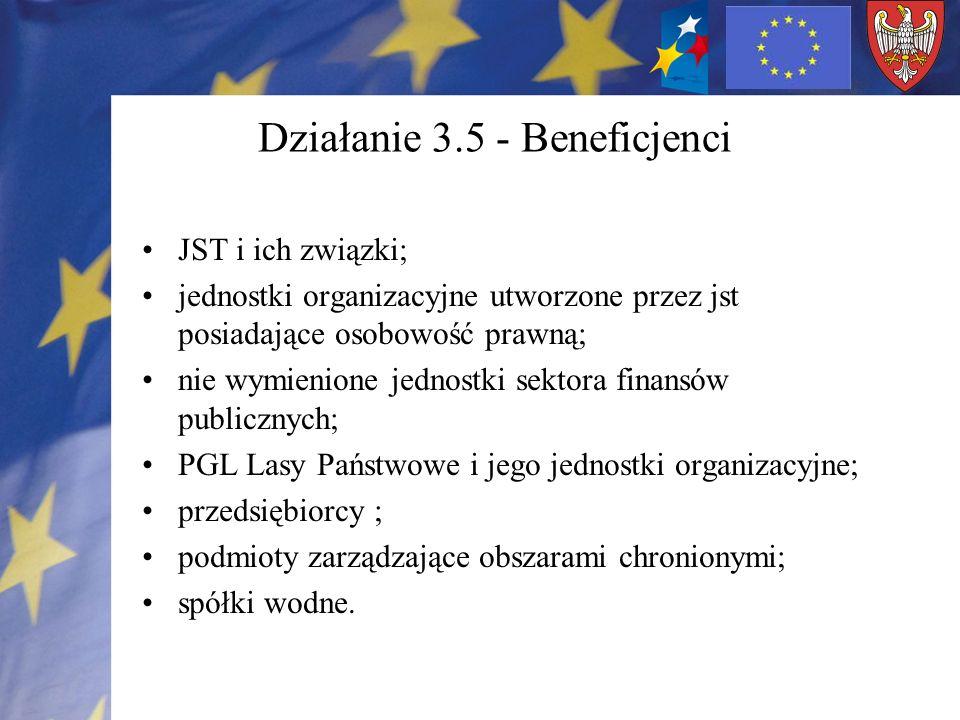 Działanie 3.5 - Beneficjenci