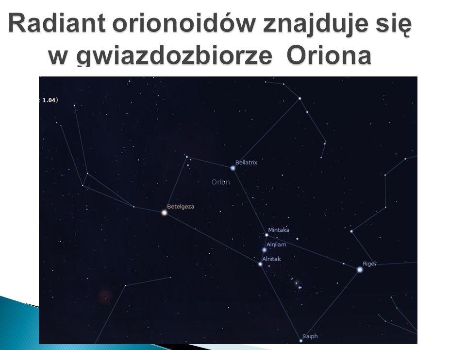 Radiant orionoidów znajduje się w gwiazdozbiorze Oriona