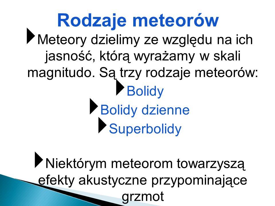 Niektórym meteorom towarzyszą efekty akustyczne przypominające grzmot