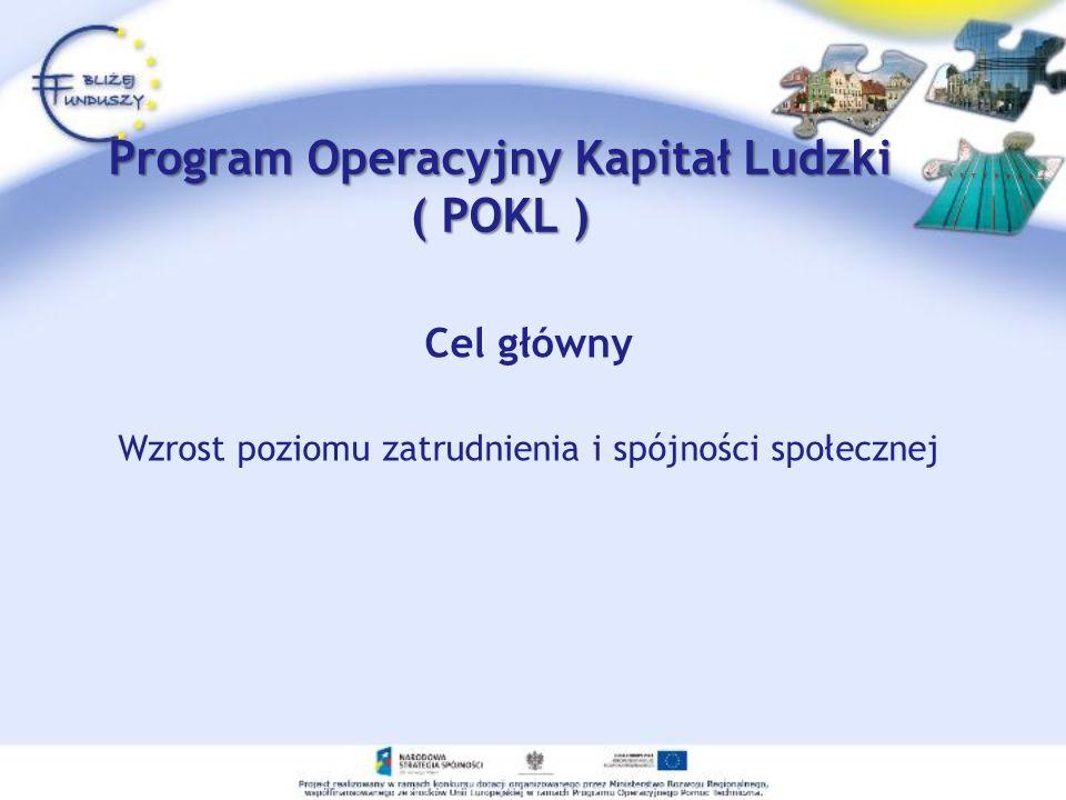 Program Operacyjny Kapitał Ludzki ( POKL )