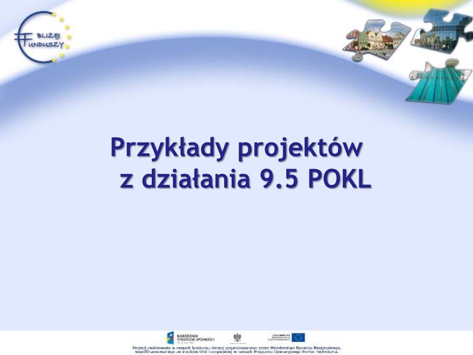 Przykłady projektów z działania 9.5 POKL