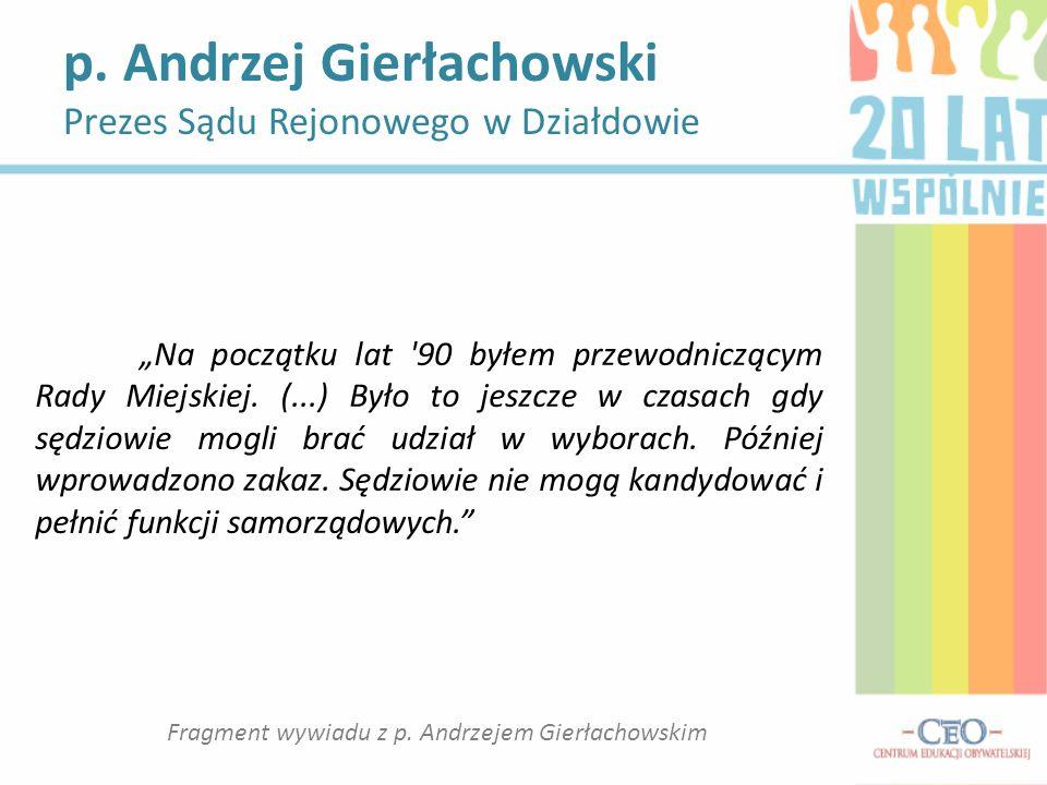 Fragment wywiadu z p. Andrzejem Gierłachowskim