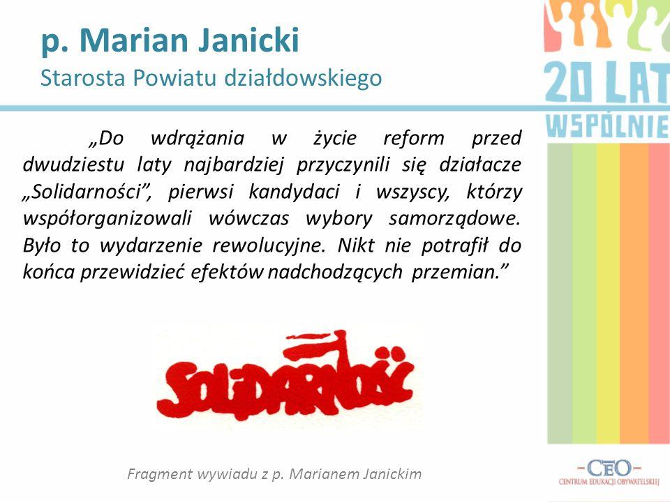Fragment wywiadu z p. Marianem Janickim