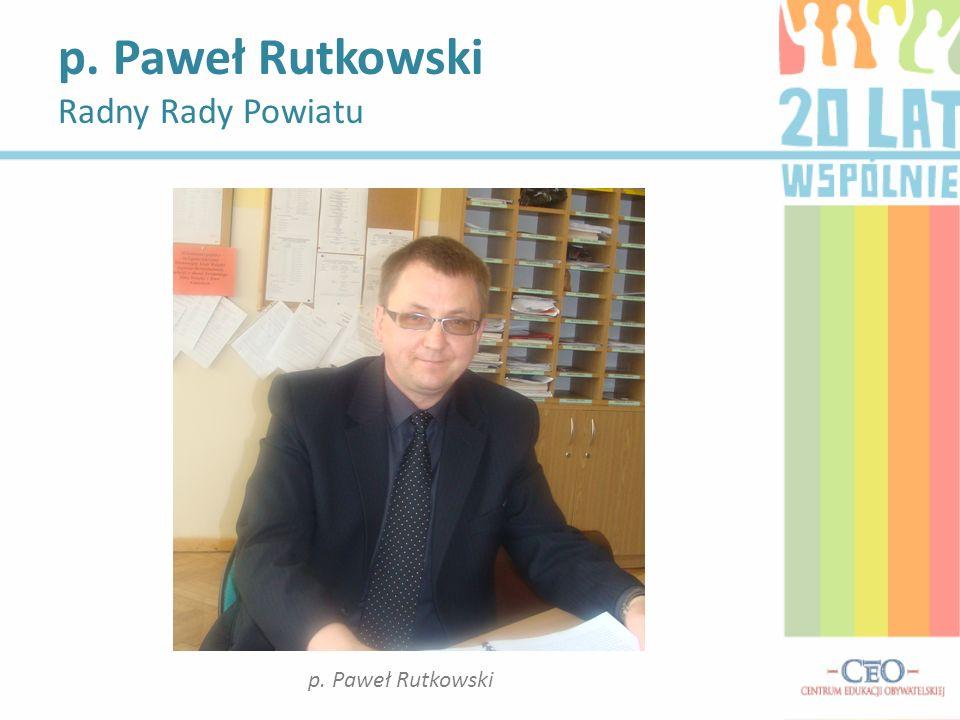 p. Paweł Rutkowski Radny Rady Powiatu
