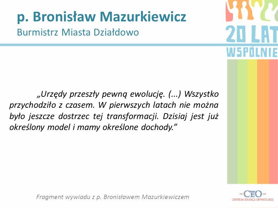 Fragment wywiadu z p. Bronisławem Mazurkiewiczem