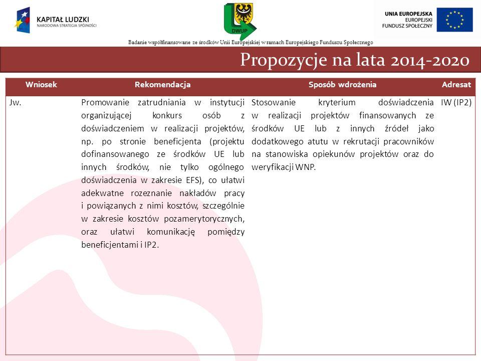 nnn Propozycje na lata 2014-2020 Jw.