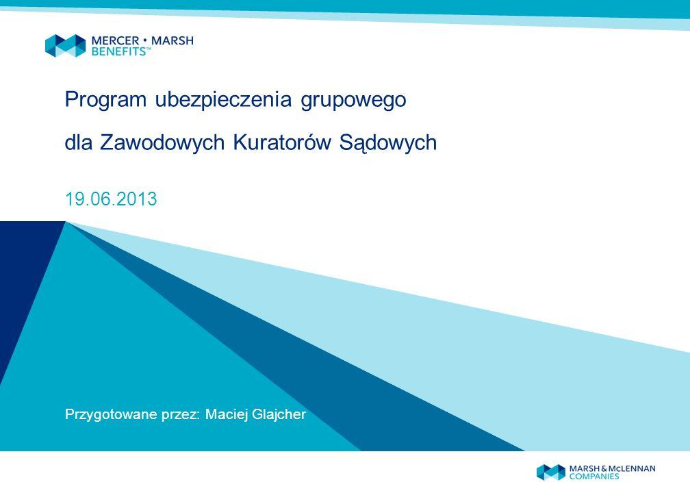 Program ubezpieczenia grupowego dla Zawodowych Kuratorów Sądowych 19