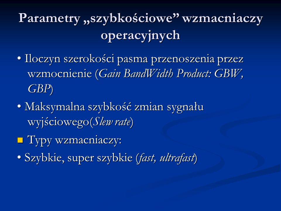 """Parametry """"szybkościowe wzmacniaczy operacyjnych"""