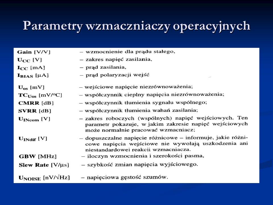 Parametry wzmaczniaczy operacyjnych