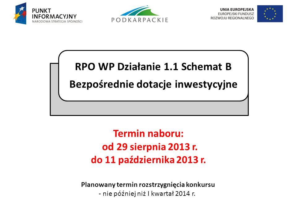 Termin naboru: od 29 sierpnia 2013 r. do 11 października 2013 r.