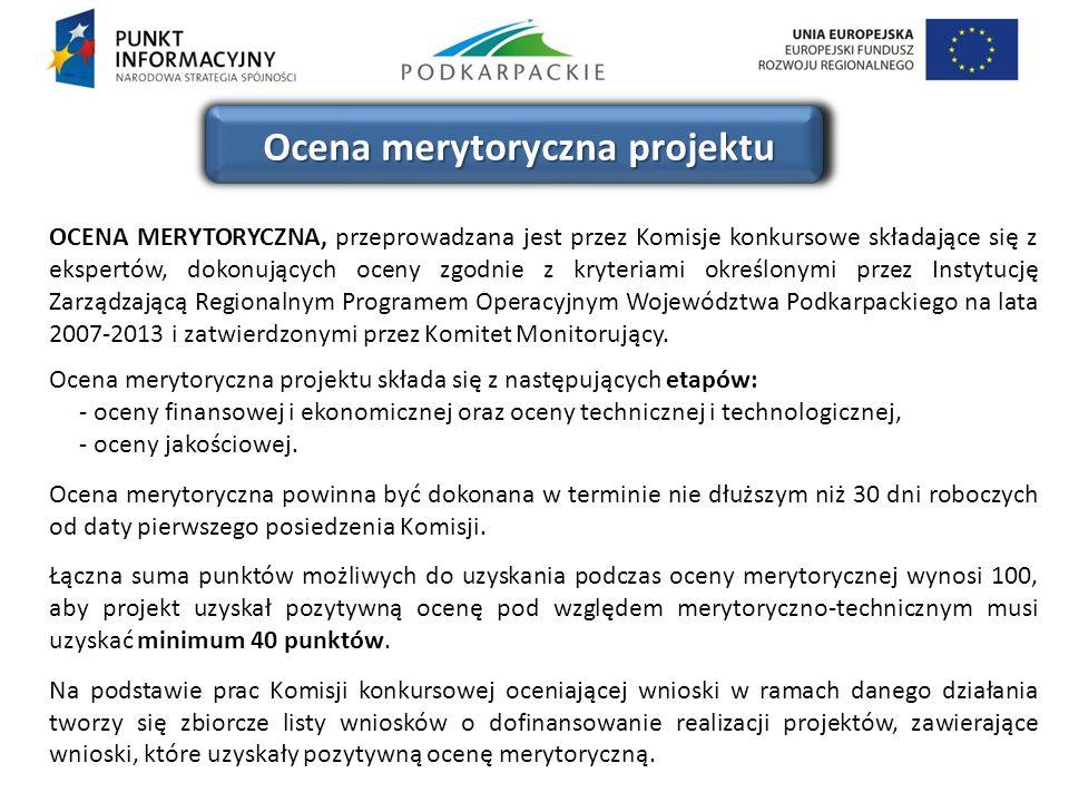 Ocena merytoryczna projektu