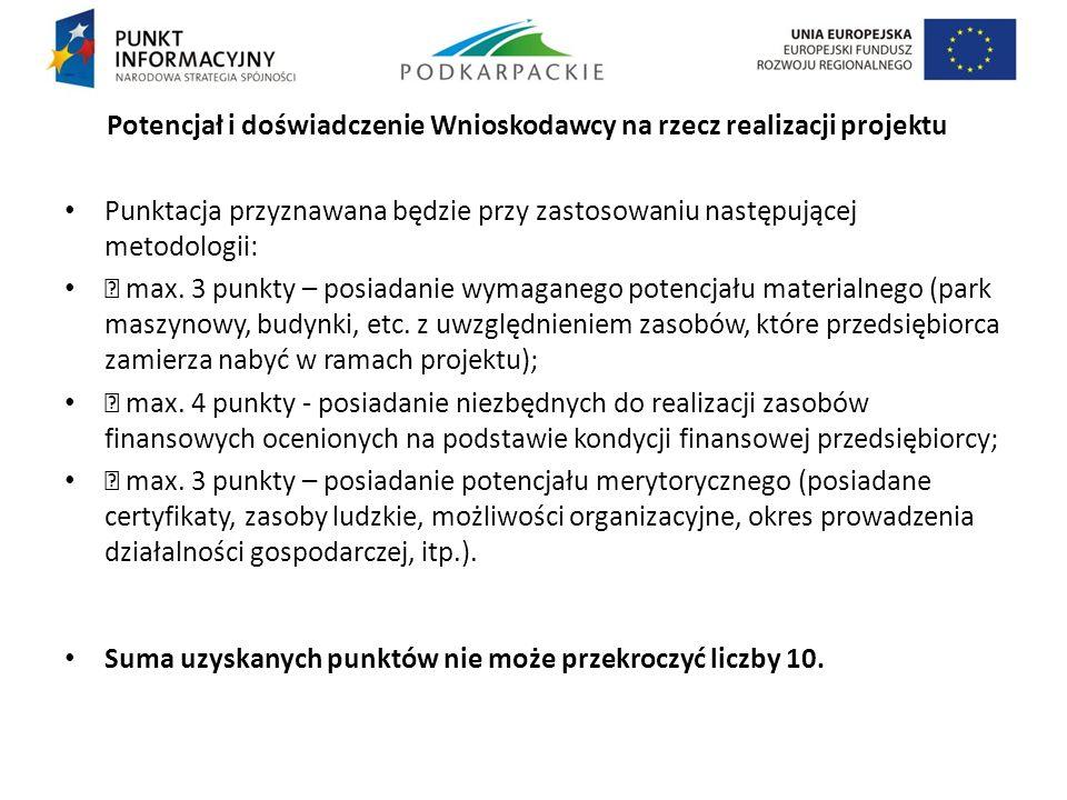 Potencjał i doświadczenie Wnioskodawcy na rzecz realizacji projektu