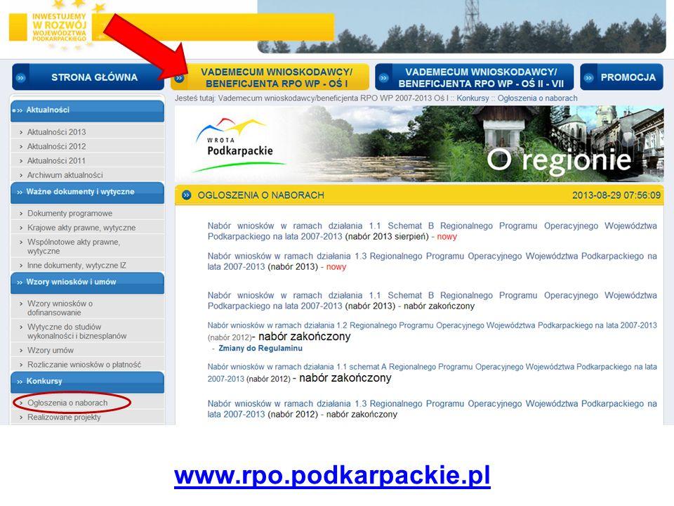 … www.rpo.podkarpackie.pl