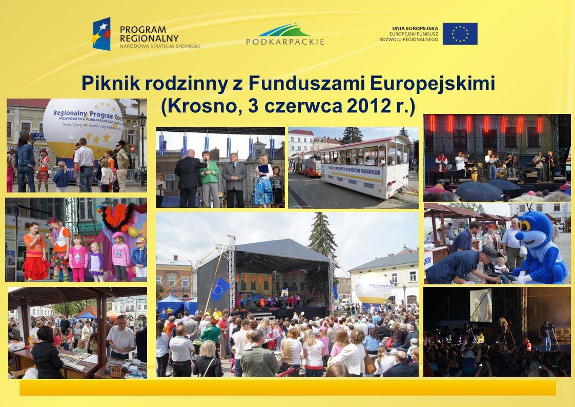 Piknik rodzinny z Funduszami Europejskimi (Krosno, 3 czerwca 2012 r.)