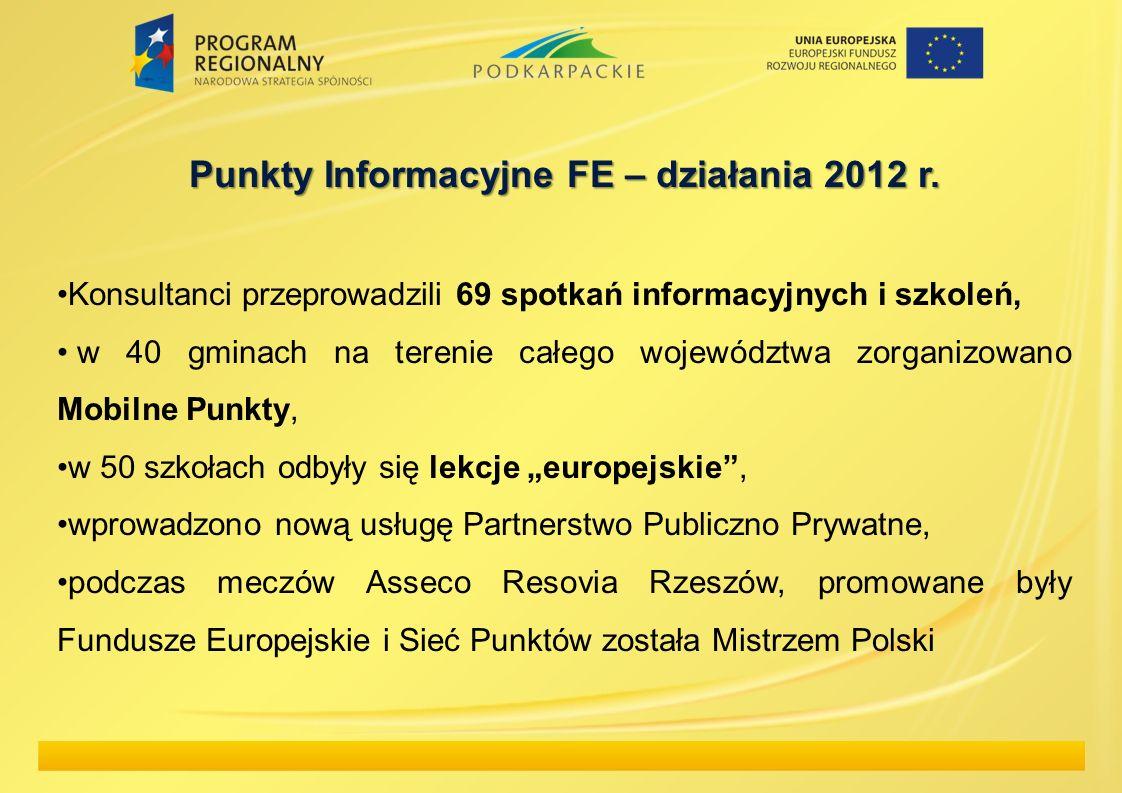 Punkty Informacyjne FE – działania 2012 r.